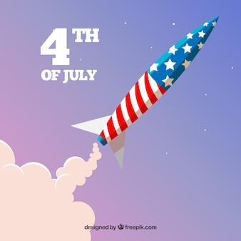 Foguete do dia da independência americana