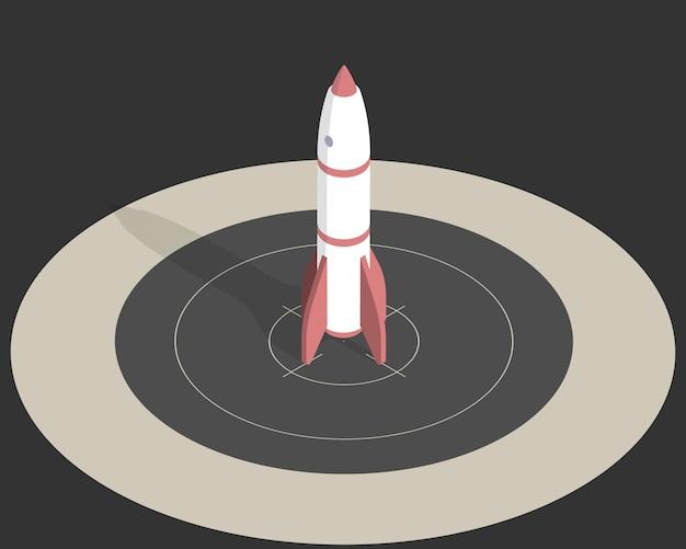 Foguete espacial isométrico