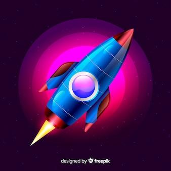 Foguete espacial moderno com design realista