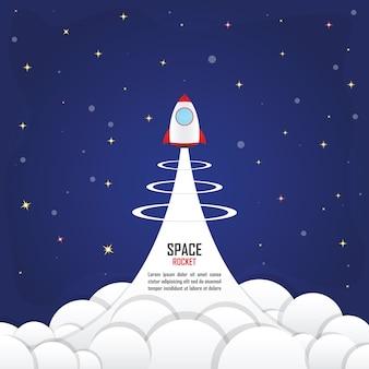 Foguete lançado no espaço