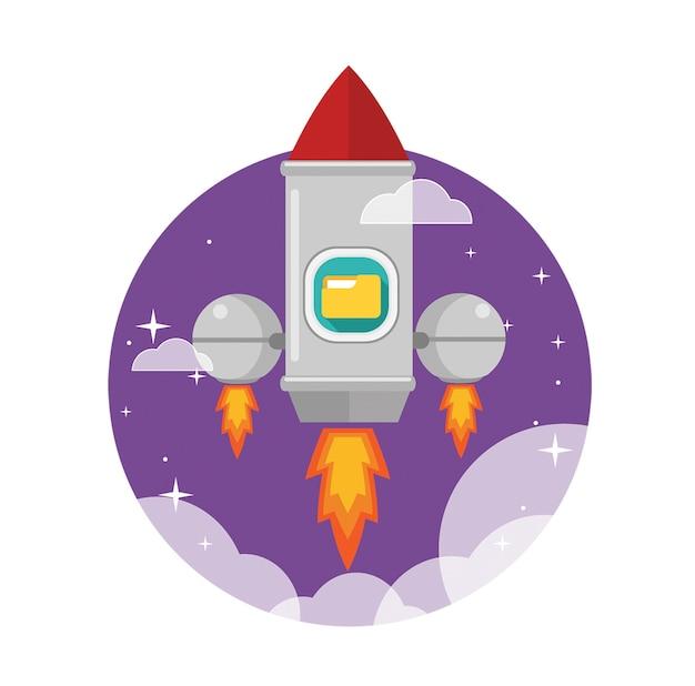 Foguete lançado para o espaço