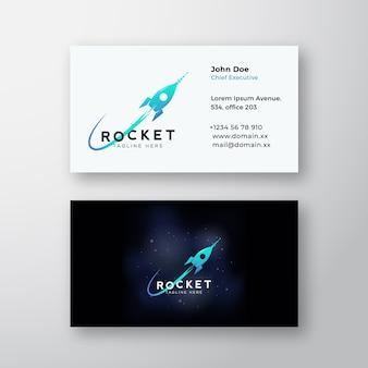 Foguete na nave espacial e cósmica