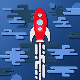 Foguete no espaço