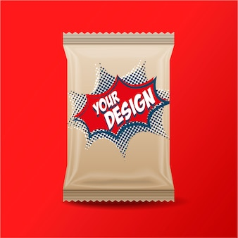 Foil food snack pack para lanches