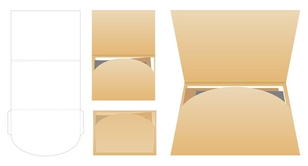 Folder die cut mock up vetor de modelo
