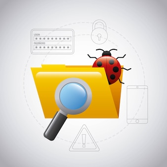 Folder file bug virus magnifier search technology