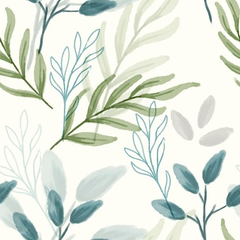 Folha abstrata aquarela padrão sem emenda