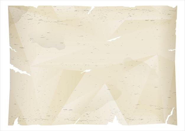 Folha amassada de papel velho