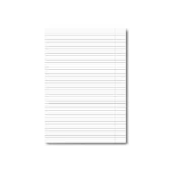 Folha de caderno de escola realista de vetor com sombra