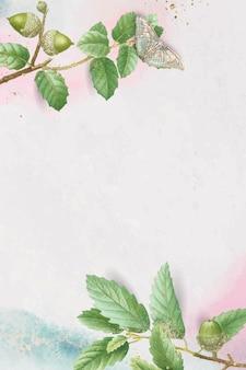 Folha de carvalho desenhada à mão