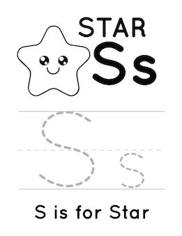 Folha de exercícios de prática de escrita à mão para crianças
