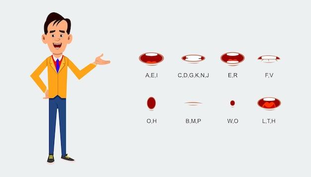 Folha de expressão de fala de personagem. folha de expressão de fala de personagem.