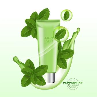 Folha de hortelã-pimenta verde e fresca