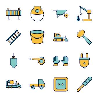 Folha de ícones de construção