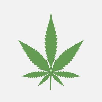 Folha de maconha. cannabis medicinal. plantar. ilustração vetorial.
