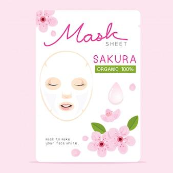 Folha de máscara de sakura
