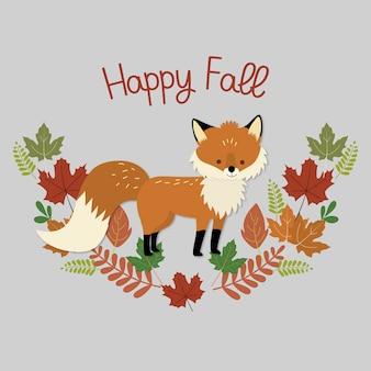 Folha de outono de raposa