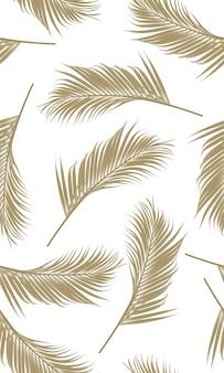 Folha de palmeiras padrão sem emenda