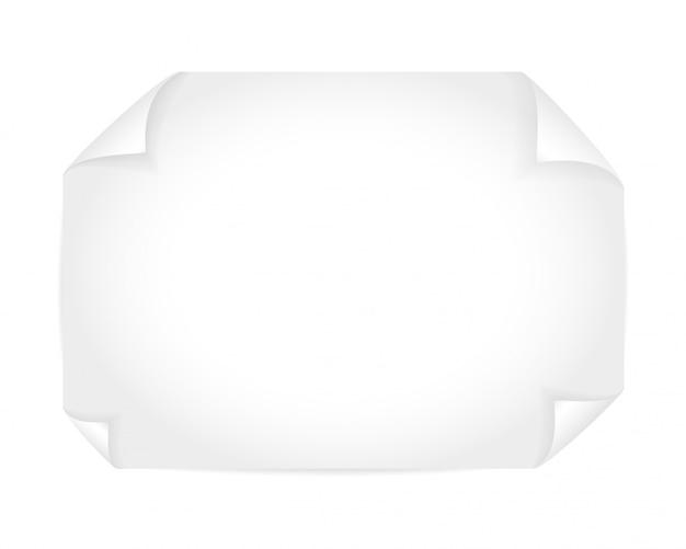 Folha de papel branca simulada