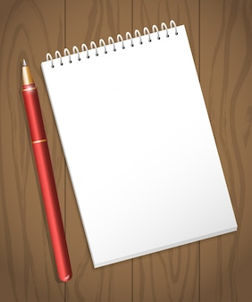Folha de papel branca vazia do caderno