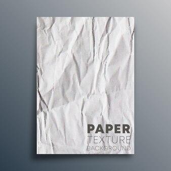 Folha de papel em branco amassado