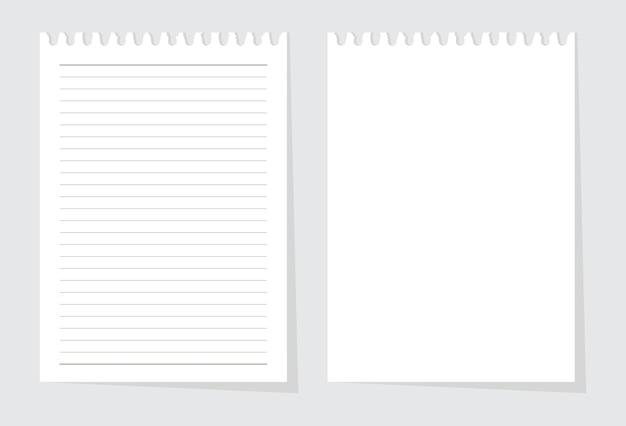 Folha de papel em branco do vetor de almofada de escrita