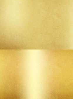 Folha de papel ou metal com textura dourada brilhante