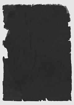 Folha de papel rasgado preto