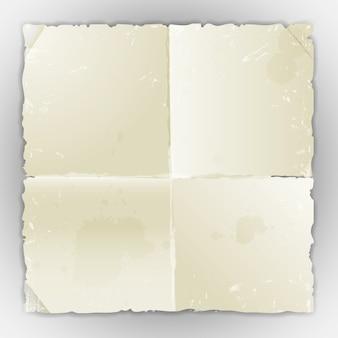 Folha de papel velho