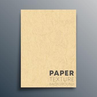Folha de papelão em branco