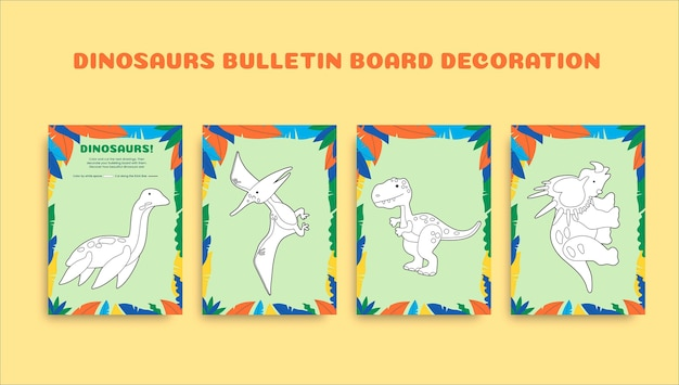 Folha de trabalho de decoração de quadro de avisos colorido criativo pré-k
