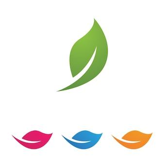 Folha deixa imagem vetorial de logotipo verde