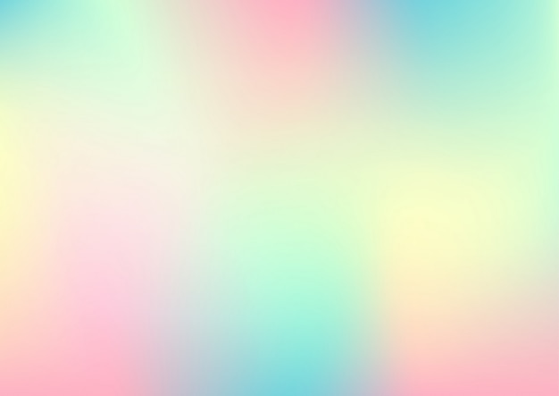 Folha holográfica, abstrato gradiente pastel.