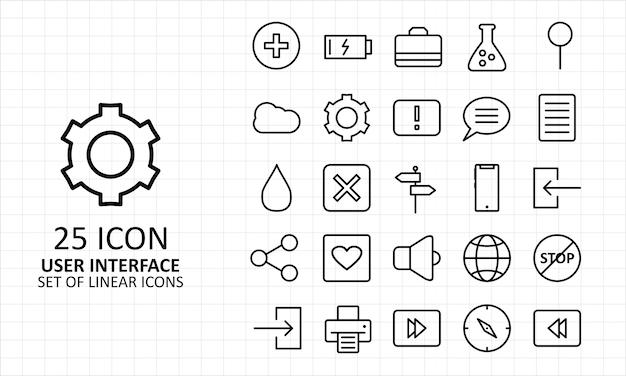 Folha interface ícones usuário pixel perfeito