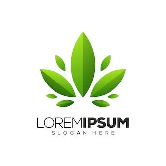 Folha logotipo design ilustração