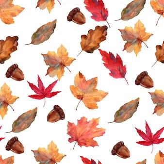 Folha outono padrão papel de parede