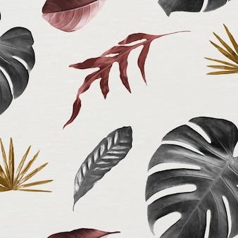 Folha tropical sem costura de fundo padronizado