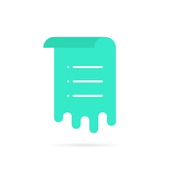 Folha verde com lista de memorandos. conceito de fluxo de trabalho, voto, interface do usuário de e-mail, menu rolado, modelo de documento, aviso, programação, postagem. estilo plano tendência logotipo moderno design gráfico ilustração vetorial no fundo branco