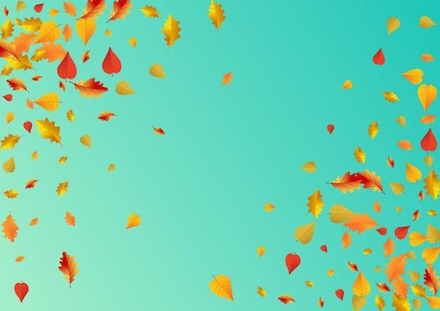 Folhagem dourada fundo azul do vetor. cartão de folhas isoladas. textura marrom da folha da árvore. design design.