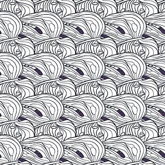 Folhagem exótica azul otline monstera folhas padrão sem emenda de impressão. ornamento tropical. formas de palma. cenário decorativo para desenho de tecido, impressão têxtil, embalagem, capa. ilustração vetorial.