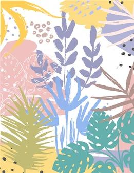 Folhas abstratas
