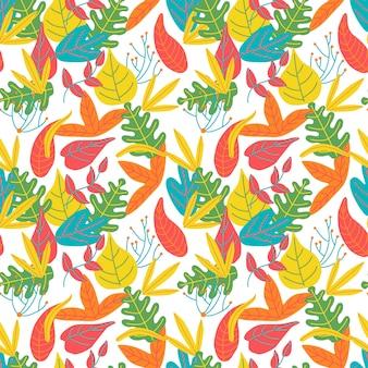 Folhas abstrato colorido brilhante de fundo
