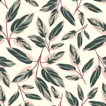 Folhas bonitas sem costura padrão