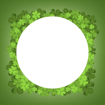 Folhas caindo do trevo irlandês isoladas em um fundo verde para design de cartão de natal, símbolo irlandês boa sorte, vetor para são patrício