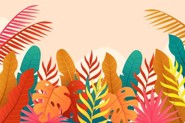 Folhas coloridas fundo de verão