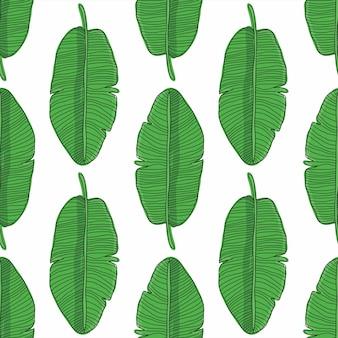 Folhas de bananeira sem costura padrão