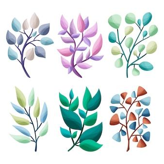 Folhas de casamento elegante de inverno.