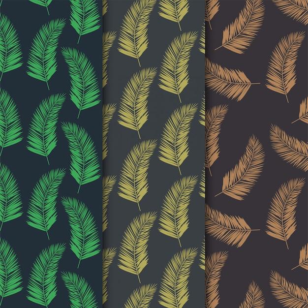 Folhas de coco sem costura padrão