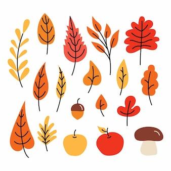 Folhas de outono coloridas folhas amarelas outonais natureza floresta folhagem laranja e folhas vermelhas de setembro