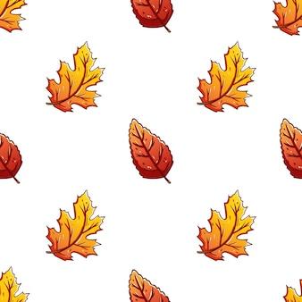 Folhas de outono coloridas sem costura de fundo